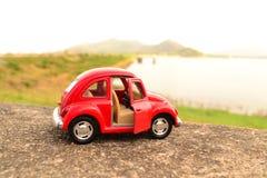 Κόκκινο αυτοκίνητο παιχνιδιών Στοκ Εικόνα