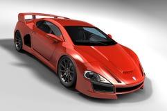 Κόκκινο αυτοκίνητο της GT Στοκ Εικόνα