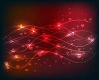 Κόκκινο αφηρημένο λαμπρό υπόβαθρο κυμάτων ελεύθερη απεικόνιση δικαιώματος