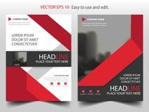 Κόκκινο αφηρημένο διάνυσμα προτύπων σχεδίου φυλλάδιων ετήσια εκθέσεων τριγώνων Infographic αφίσα περιοδικών επιχειρησιακών ιπτάμε ελεύθερη απεικόνιση δικαιώματος