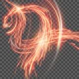 Κόκκινο αφηρημένο υπόβαθρο με το θολωμένο μαγικό φως νέου EPS 10 διάνυσμα Στοκ Εικόνα