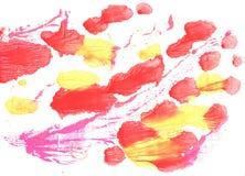 Κόκκινο αφηρημένο υπόβαθρο watercolor κοραλλιών στοκ εικόνες