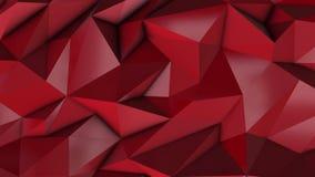 Κόκκινο αφηρημένο χαμηλό πολυ υπόβαθρο τριγώνων απεικόνιση αποθεμάτων