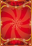κόκκινο αφισών Χριστουγέ&nu Στοκ εικόνα με δικαίωμα ελεύθερης χρήσης