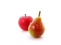 κόκκινο αχλαδιών μήλων Στοκ φωτογραφία με δικαίωμα ελεύθερης χρήσης