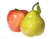 κόκκινο αχλαδιών μήλων Στοκ Φωτογραφίες