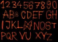 Κόκκινο αλφάβητο λέιζερ Στοκ Εικόνες
