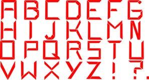 Κόκκινο αλφάβητο Στοκ Εικόνα