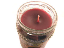 κόκκινο βάζων κεριών Στοκ εικόνα με δικαίωμα ελεύθερης χρήσης