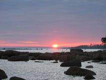 Κόκκινο βαθύ χρώμα ουρανού Στοκ Φωτογραφίες