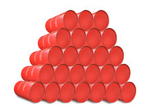 Κόκκινο βαρέλι μετάλλων που απομονώνεται στο λευκό Στοκ εικόνες με δικαίωμα ελεύθερης χρήσης
