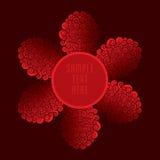Κόκκινο βασιλικό σχέδιο εμβλημάτων ή ετικετών πολυτέλειας Στοκ εικόνα με δικαίωμα ελεύθερης χρήσης