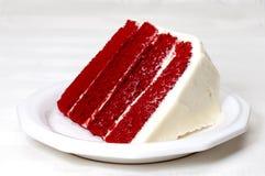 κόκκινο βελούδο κέικ Στοκ Φωτογραφίες
