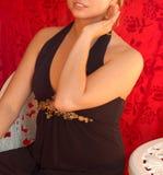 κόκκινο βελούδο πριγκηπισσών Στοκ εικόνες με δικαίωμα ελεύθερης χρήσης