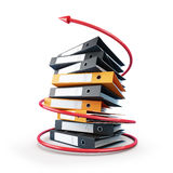 κόκκινο βελών folde Στοκ εικόνα με δικαίωμα ελεύθερης χρήσης