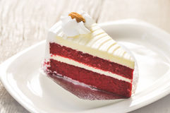 κόκκινο βελούδο κέικ Στοκ φωτογραφία με δικαίωμα ελεύθερης χρήσης