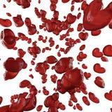 κόκκινο βροχής καρδιών Στοκ φωτογραφία με δικαίωμα ελεύθερης χρήσης