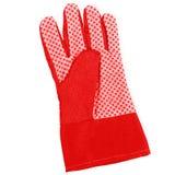 Κόκκινο γάντι κηπουρικής στοκ φωτογραφία με δικαίωμα ελεύθερης χρήσης