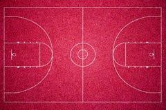 Κόκκινο γήπεδο μπάσκετ στοκ φωτογραφία