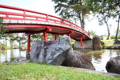 κόκκινο γεφυρών κάτω Στοκ Εικόνες