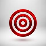 Κόκκινο γεωμετρικό διακριτικό κύκλων τεχνολογίας μετάλλων αφηρημένο ελεύθερη απεικόνιση δικαιώματος