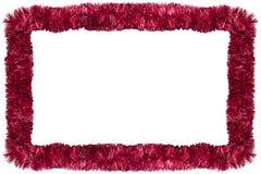 κόκκινο γιρλαντών Χριστο&up Στοκ Εικόνες