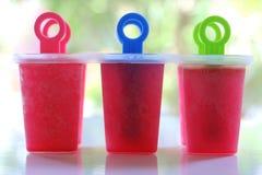 Κόκκινο γλυκό παγωτό στοκ εικόνα