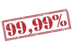 κόκκινο γραμματόσημο 99 τοις εκατό απεικόνιση αποθεμάτων