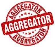 κόκκινο γραμματόσημο aggregator Διανυσματική απεικόνιση