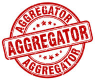 Κόκκινο γραμματόσημο grunge Aggregator Απεικόνιση αποθεμάτων
