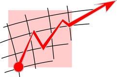 κόκκινο γραμμών επάνω Στοκ φωτογραφία με δικαίωμα ελεύθερης χρήσης