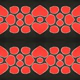 Κόκκινο γραπτό σχέδιο 2 διανυσματική απεικόνιση