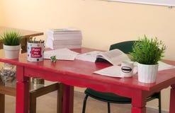 Κόκκινο γραφείο Στοκ Εικόνα