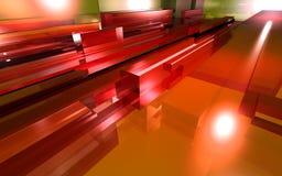 κόκκινο γυαλιού Στοκ Φωτογραφία