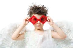 κόκκινο γυαλιών αγγέλο&upsil Στοκ Εικόνα