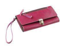 Κόκκινο γυναικείο πορτοφόλι δέρματος Στοκ Εικόνες