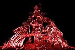 Κόκκινο γλυπτών νεράιδων και πάγου του Phoenix Στοκ φωτογραφία με δικαίωμα ελεύθερης χρήσης