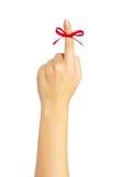 κόκκινο δάχτυλων τόξων Στοκ εικόνες με δικαίωμα ελεύθερης χρήσης