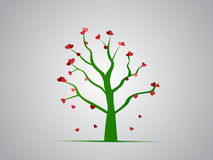 Κόκκινο δέντρο καρδιών Στοκ Εικόνα