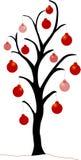 κόκκινο δέντρο Χριστουγέννων Στοκ φωτογραφία με δικαίωμα ελεύθερης χρήσης