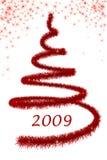 κόκκινο δέντρο christimas Στοκ εικόνα με δικαίωμα ελεύθερης χρήσης