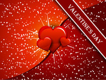 κόκκινο διάνυσμα καρδιών Στοκ εικόνες με δικαίωμα ελεύθερης χρήσης