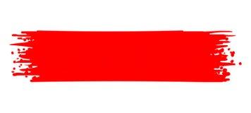 Κόκκινο διάνυσμα κτυπήματος χρωμάτων Κτύπημα βουρτσών διανυσματική απεικόνιση