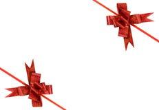 κόκκινο διακοπών τόξων Στοκ Εικόνα