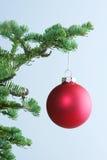 κόκκινο διακοσμήσεων Χριστουγέννων Στοκ Φωτογραφίες