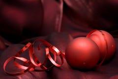 κόκκινο διακοσμήσεων Χρ&i Στοκ φωτογραφία με δικαίωμα ελεύθερης χρήσης