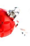 κόκκινο διακοσμήσεων στοκ εικόνες με δικαίωμα ελεύθερης χρήσης