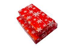 κόκκινο διανυσματικό λευκό απεικόνισης δώρων κιβωτίων ανασκόπησης Στοκ εικόνα με δικαίωμα ελεύθερης χρήσης