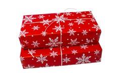 κόκκινο διανυσματικό λευκό απεικόνισης δώρων κιβωτίων ανασκόπησης Στοκ φωτογραφίες με δικαίωμα ελεύθερης χρήσης