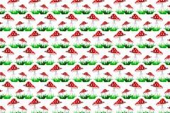 Κόκκινο διανυσματικό σχέδιο Toadstool Διανυσματική απεικόνιση